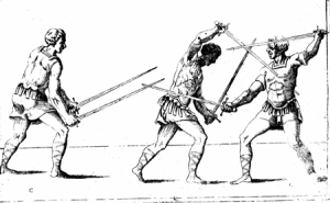 Contrast of two in C with two swords