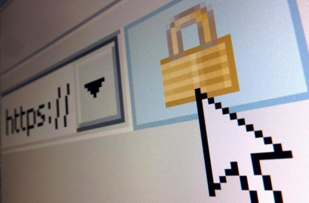 A lock icon, signifying an encrypted Internet connection, is seen on an Internet Explorer browser in a photo illustration in Paris April 15, 2014. About two thirds of all websites use code known as OpenSSL to help secure those encrypted sessions. Researchers last week warned they have uncovered a security bug in OpenSLL dubbed Heartbleed, which could allow hackers to steal massive troves of information without leaving a trace. REUTERS/Mal Langsdon (FRANCE - Tags: SCIENCE TECHNOLOGY CRIME LAW) - RTR3LDWQ