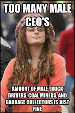 Billedresultat for feminism and work, amounts of ceo and garbage workers